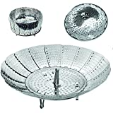 Delightful Chef Stainless Steel Vegetable Steamer Folding Collapsible Basket for Various Size Pots