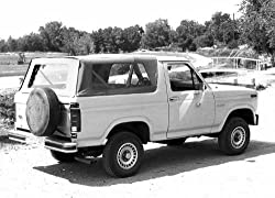 Rampage Products 98501 80-96 Ford Bronco Complete Replacement Soft Top w/ Frame & Hardware, Tinted Windows, Black