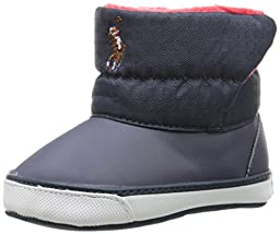 Ralph Lauren Layette Damien Weather Boot (Infant/Toddler), Navy Ripstop Nylon, 3 M US Infant