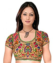 Try n Get's Multi Color cotton Work Blouse Piece