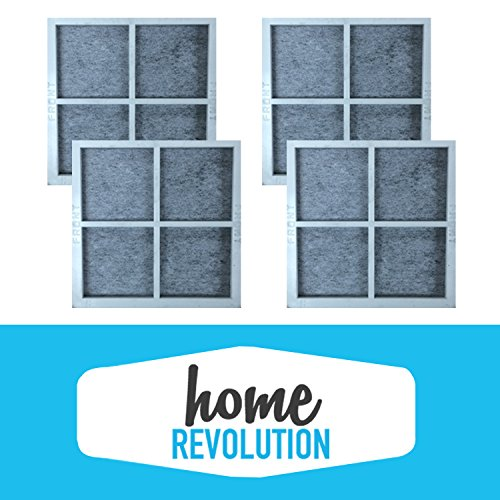 4 LG LT120F Home Revolution Brand Air Purifying Fridge Filter Replacement Made To Fit LG LT120F, KENMORE 9918; Compare to Part # ADQ73334008 & ADQ73214404, 04609918000P