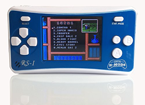 E-MODS-GAMING-RS-1-Retro-25-LCD-Handheld-Portable-Arcade-Video-Gaming-System-162-Retro-Games-Entertainment-BLUE