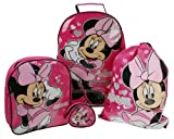 Disney Minnie Mouse Ensemble de 4 valises Pc: inc. Trolley, sac à dos