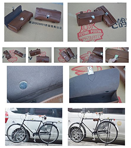 Handmade PU England Vintage Bike Saddle Bag Size 189cm4.5cm 6