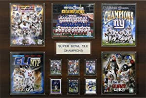 NFL 24 x 36 in. New York Giants Super Bowl XLVI Champions 24 x 36 in. Plaque by C&I Collectables