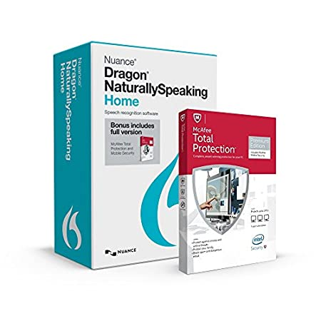 Dragon NaturallySpeaking Home 13 with McAfee Total Protection Premium