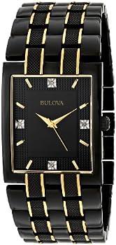 Bulova Diamond Dial Black Men's Watch
