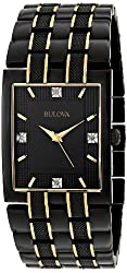 Bulova Men's 98D004 Diamond Dial Watch