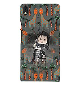 PrintDhaba Cartoon D-3677 Back Case Cover for HUAWEI ASCEND P6 (Multi-Coloured)