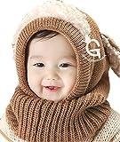NEWSTORY この冬たくさん着せたい かわいい 赤ちゃん 用 ニット帽 (04. ブラウン)