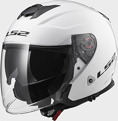 LS2 OF521 Infinity Solid White Motorcycle Helmet