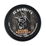 Badass Beard Care Beard Wax For Men - El Burrista Scent, 2 oz - Softens Beard Hair, Leaves Your Beard Looking and Feeling More Dense