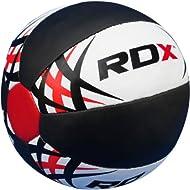 Get Authentic RDX Heavy Duty Rex Leather Medicine ball 5kg8kg10kg 12kg Exercise Fitness Gym Comparison-image