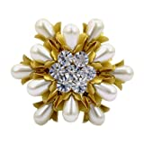 Classical Gold Plated and Pearl Style Brooch