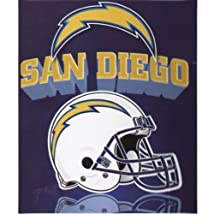 Northwest San Diego Chargers Light Weight Fleece NFL Blanket (Grid Iron) (50x60) NOR-1NFL031018079RET