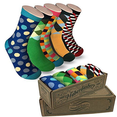 Men's Socks Hipster Power Socks - 5 Pairs of Sox Per Box - Fun Socks Mens Socks (#sockgame plan-b)