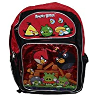 Licensed Rovio Angry Birds 16' Large School Backpack Red 5 Birds