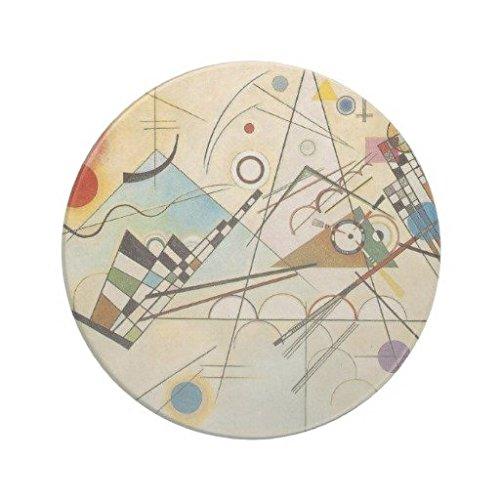 Honeyun Kandinsky Abstract Art Drink Coaster Set of 4 Sandstone Coasters