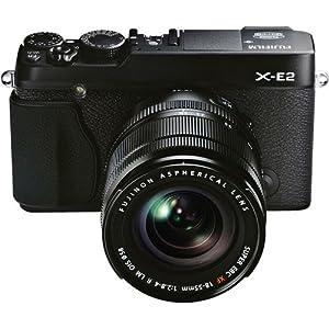 Fujifilm X-E2 Systemkamera (16 Megapixel APS-C X-Trans CMOS II Sensor, 7,6 cm (3 Zoll) LCD-Display, Full HD, HDMI) inkl. XF18-55mm Kit schwarz