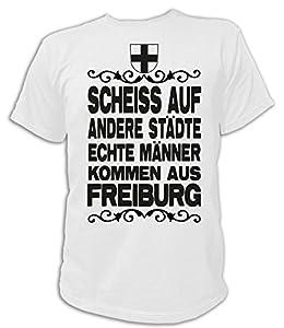 Artdiktat Herren T-Shirt Scheiß auf andere Städte - Echte Männer kommen aus Freiburg