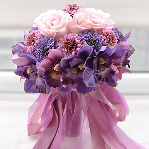 Abbie home handmade rose and sunflower real touch artificial silk handmade rose and sunflower real touch artificial silk flowers wedding bouquets mightylinksfo