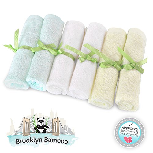 Brooklyn Bamboo Baby Washcloth Wipes 6 Pack Organic