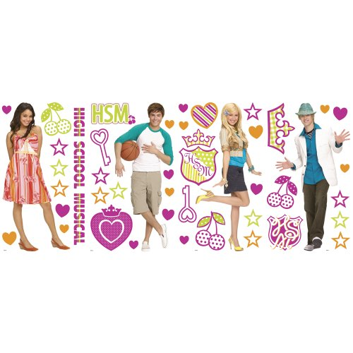 Blue Mountain Wallcoverings GAPP1820 High School Musical Self-Stick Room Appliqués