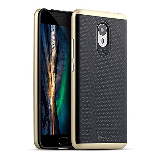 SGC iPaky Hybrid Ultra Thin Shockproof Back + Bumper Case Cover for YU Yunicorn - Gold