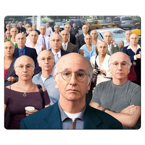 26x21cm 10x8inch personal gaming mousemat accurate cloth & antiskid rubber unique Designs prevent fraying Curb Your Enthusiasm wallpaper
