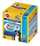 Image of Pedigree DentaStix Hundesnack für große Hunde (25kg+), Zahnpflege-Snack mit Huhn und Rind, 1 Packung je 56 Stück (1 x 2.16 kg)
