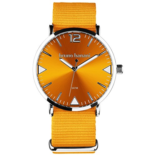 Bruno Banani BR30056Cool Color Watch Unisex Analogue Air Band Metal 50m Orange