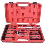 Supercrazy 16PCS Blind Hole Pilot Bearing Internal Extractor Puller W/ Slide Hammer Removal Tool Kit SF0030