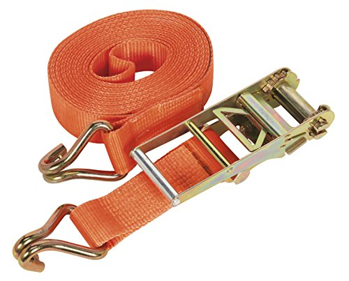 Sealey TD10008J Ratchet Tie Down Polyester Webbing, 75 mm x 8 m, 10000 Kg Load Test