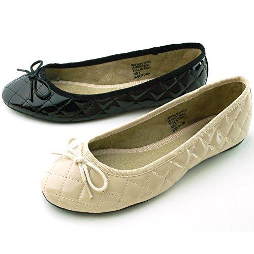 Alpine Swiss Women's Patent Leather Aster Slip On Ballet Flats
