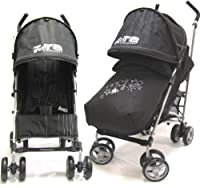 All 2011 Zeta Vooom Complete With Footmuff Head Hugger And Raincover - Black from BABY TRAVEL
