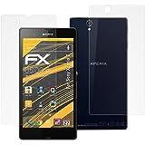 atFoliX FX-Antireflex Protection d'écran pour Sony Xperia Z (3 pièces) - avec face avant et dos! protection d'écran antiéblouissante!