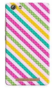 Omnam Colorful Stripes Designer Back Cover Case For Gionee Marathon M5 Lite