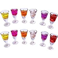 ShadowFax Wine Glass Shape Gel Candle Set Of 12