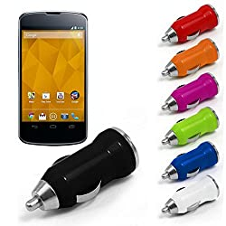 Universal Bullet Car Charger / Adapter 12V / 24V To 5v 0.5A / 500mA ( Colours May Vary) Only from M.P.Enterprises