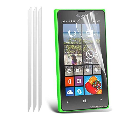 Microsoft Lumia 532 Packung mit 3 Displayschutz Mit Poliertuch Mit dem i-Tronixs