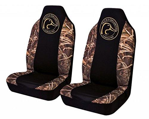 Ducks Unlimited Camo Spandex Seat Cover ( Realtree Max-4 Camo, Set of 2) (Funny Car Seat Covers compare prices)