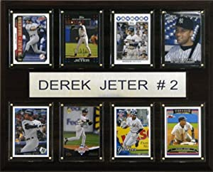 MLB Derek Jeter New York Yankees 8 Card Plaque by C&I Collectables