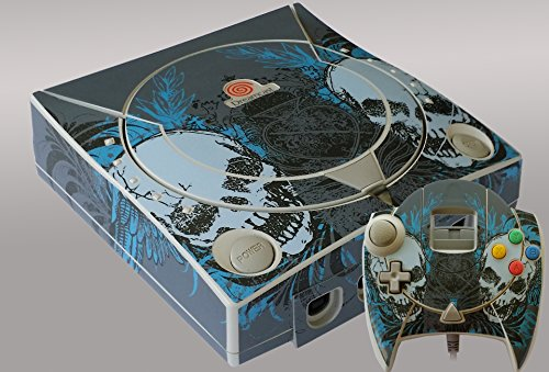 "Sega Dreamcast Console ""Skulls"" Skin/Sticker/Decal + 1 Matching Controller Skin front-252110"