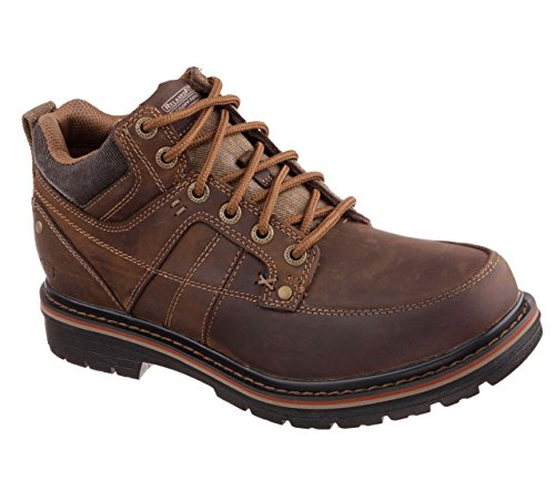 Skechers Relaxed Fit Marcelo Topel Mens Lace Up Boots Dark B