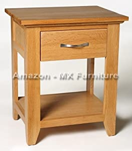 New Cambridge Solid Oak One Drawer Lamp / Bedside Coffee Table / Chest       Customer reviews and more information