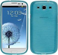 Custodia in Silicone per Samsung Galaxy S3 Neo - brushed blu - Cover PhoneNatic + pellicola protettiva