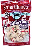 SmartBones DoubleTime Bones Chicken Dog Chew, Mini,  16-count