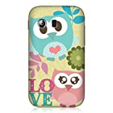 Head Case Designs Kawaii Pink and Green Love Owl Case for Samsung Galaxy Y S5360