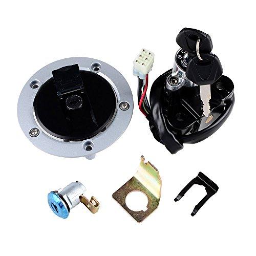 ANZIO Ignition Switch Seat Lock Fuel Gas Cap with 2 Key Set For Suzuki 03-08 SV 1000S 04-05 GSXR600/750 (06 Gsxr Ignition Switch compare prices)