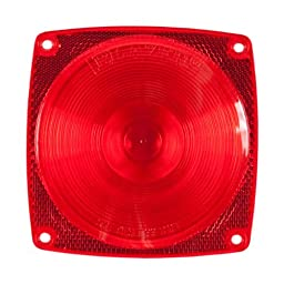 Blazer B983 Stop/Tail/Turn Light Replacement Lens - Square - Red